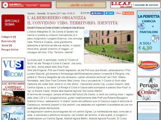 Spoleto on line 30 aprile 2017