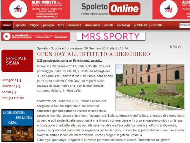 spoleto on line 26 gennaio 2017